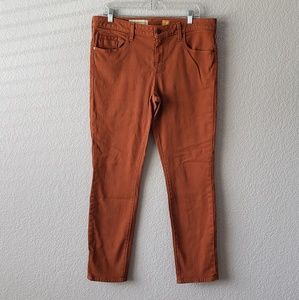 Pilcro and the Letterpress STET jeans burnt orange